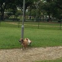 Photo taken at Dog Run @ Bishan Park by Minka Monica L. on 6/14/2015