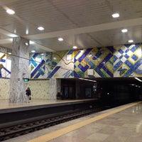 Photo taken at Metro Bela Vista [VM] by Rui S. on 4/10/2014