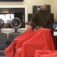 Photo taken at All Star Barber Shop by Robert G. on 2/25/2013