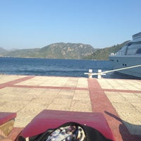 Photo taken at Marmaris Park Beach by A. IREM A. on 8/8/2013