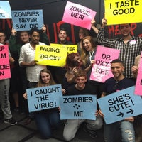 Photo taken at Room Escape Adventures - With a Zombie by Rebecca G. on 4/30/2016