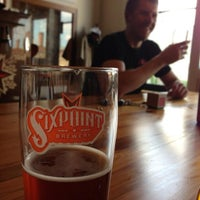 Photo taken at Sixpoint Brewery by Jason A. on 8/2/2013