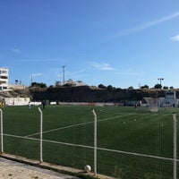 Photo taken at Hersonissos Soccer Field by Kostas A. on 10/27/2012