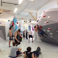 Photo taken at Boulderwelt München West by Nina on 9/6/2014