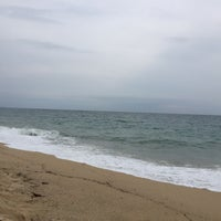 Photo taken at Platja de Sant Simó by Venice Q. on 10/21/2015