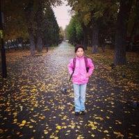 Photo taken at Бульвар по пр. Кирова by Timur R. on 10/4/2014