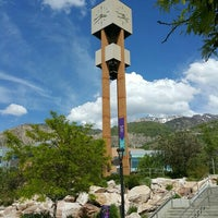 Photo taken at Weber State University- Stewart Bell Tower Plaza by Kwanchique L. on 5/23/2016