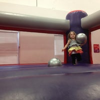 Photo taken at Bounce U by Stephanie T. on 5/17/2013