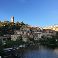 Photo taken at Olargues by Laurence S. on 4/11/2017