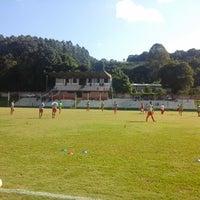 Photo taken at Estadio Municipal Mario Cini by Renan G. on 4/27/2014
