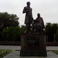 Photo taken at Памятник «Пушкин и крестьянка» by Anna N. on 6/15/2014