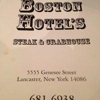 Photo taken at The Boston Hotel's Steak & Crabhouse by Cricklizard B. on 10/21/2012