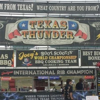 Photo taken at Texas Thunder Championship BBQ at Aksarben Ribfest by Paul M. on 8/22/2013