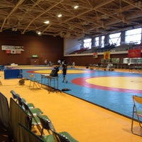 Photo taken at Mishima Civic Gymnasium by Mikako H. on 10/4/2014