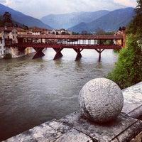 Photo taken at Ponte degli Alpini by Alberto B. on 4/21/2013