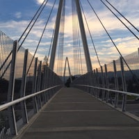 Photo taken at Mary Avenue Bicycle Footbridge by Sogol G. on 2/10/2016