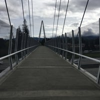 Photo taken at Mary Avenue Bicycle Footbridge by Sogol G. on 3/9/2016