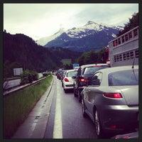 Photo taken at Gotthard Strassentunnel by Tijs T. on 6/22/2013