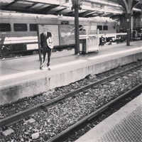 Photo taken at PATH - Harrison Station by Aaron G. on 4/27/2013