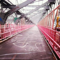 Photo taken at Williamsburg Bridge Pedestrian & Bike Path by Jean B. on 8/9/2013