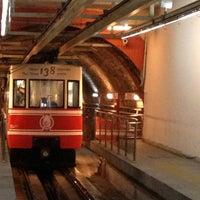 Photo taken at Tünel Tramvay Durağı by Doğukan K. on 2/20/2013