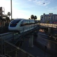 Photo taken at Las Vegas Monorail - MGM Grand Monorail Station by Saku Y. on 1/8/2013