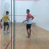 Photo taken at Squash Court @ Catholic High School by Kam Y. on 7/16/2014
