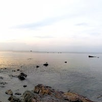 Photo taken at Tung Wua Laen Beach by Cha M. on 4/25/2018