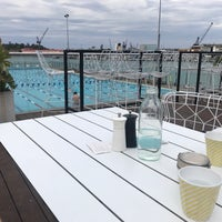 Photo taken at Andrew (Boy) Charlton Poolside Café by miss wang W. on 9/25/2017