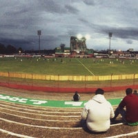 Photo taken at Estádio Vermelhão da Serra by Cristina T. on 3/30/2015