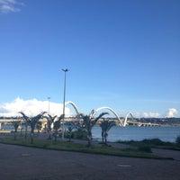 Photo taken at Orla da Ponte JK by Camila C. on 2/3/2013