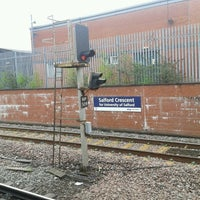Photo taken at Salford Crescent Railway Station (SLD) by Ian R. on 5/10/2013