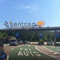 Photo taken at Sentosa Entrance Gantry by Marcio S. on 10/28/2012