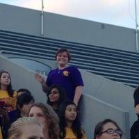 Photo taken at Buddy Moorehead Memorial Stadium by Melissa L. on 10/11/2013