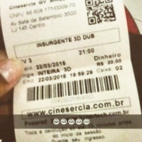 Photo taken at Cinesercla by Letícia A. on 3/22/2015