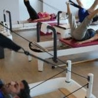 Photo taken at Mojo Reformer Pilates by Margie F. on 4/21/2014