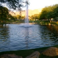 Photo taken at La Quinta Civic Center Park by Kel Kel P. on 7/15/2014