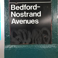 Photo taken at MTA Subway - Bedford/Nostrand Aves (G) by Jonathan M. on 1/29/2017