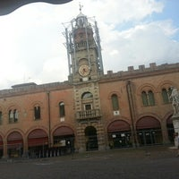 Photo taken at Piazza Guercino by Laura R. on 6/3/2014