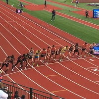 Photo taken at Hayward Field by Justin S. on 7/10/2016