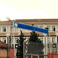 Photo taken at Bağcılar Malazgirt Orta Okulu by Ekrem N. on 3/8/2016