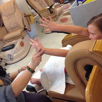 Photo taken at LA Nails & Spa by Cathi C. on 6/23/2014