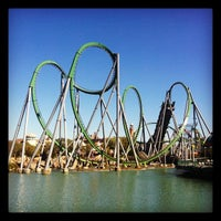 Photo taken at The Incredible Hulk Coaster by Melissa P. on 11/3/2012