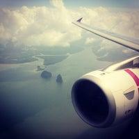 Photo taken at Phuket International Airport (HKT) by Tanakawee แ. on 6/28/2013