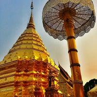 Photo taken at Wat Phrathat Doi Suthep by Jo T. on 4/1/2013