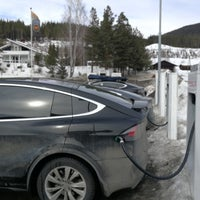 Photo taken at Tesla Supercharger by Jo T. on 3/24/2018