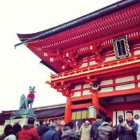 Photo taken at Fushimi Inari Taisha by Mitsutaka K. on 1/2/2013