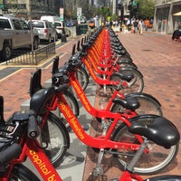 Photo taken at Capital Bikeshare - 15th & P St NW by André B. on 5/15/2015
