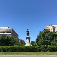 Photo taken at Scott Circle by André B. on 5/9/2017