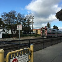 Photo taken at Broadway Caltrain Station by Ellen T. on 5/24/2016